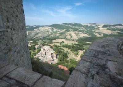 Il borgo visto dal castello