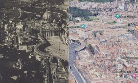 Piazza San Pietro 1919 vs San Pietro oggi